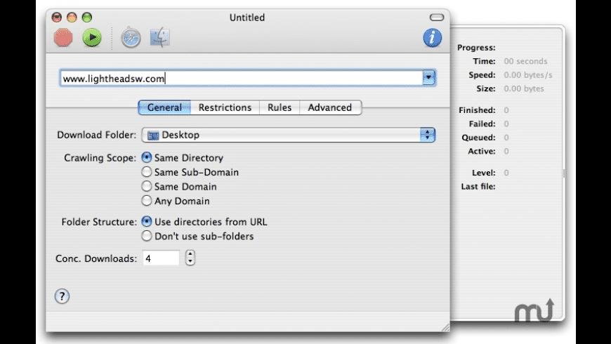 SiteCrawler for Mac - review, screenshots
