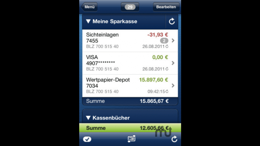 iOutBank Pro - Mobile Banking for Mac - review, screenshots