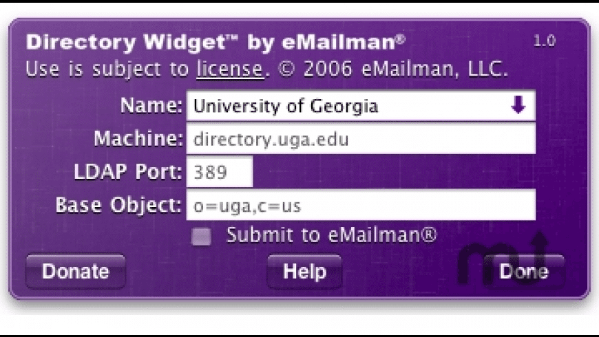Directory Widget for Mac - review, screenshots