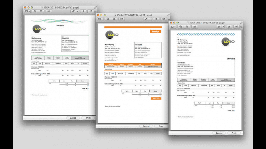 iDea Invoice Classic for Mac - review, screenshots