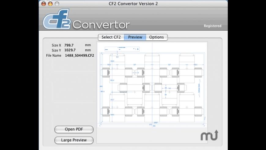 CF2 Convertor for Mac - review, screenshots