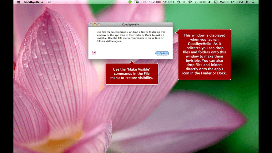 GoodbyeHello for Mac - review, screenshots