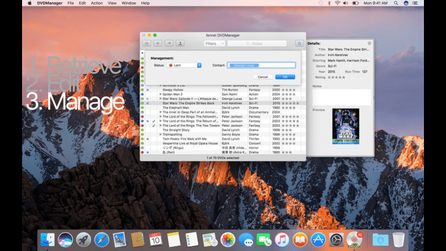 fennel DVDManager for Mac - review, screenshots