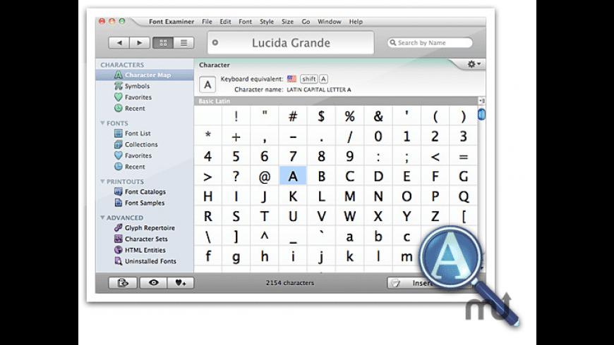 Font Examiner for Mac - review, screenshots