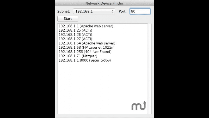 Network Device Finder for Mac - review, screenshots