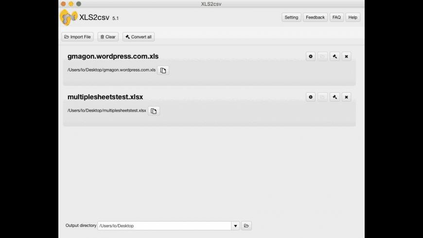 XLS2csv for Mac - review, screenshots
