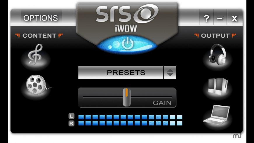 SRS iWOW Premium for Mac - review, screenshots
