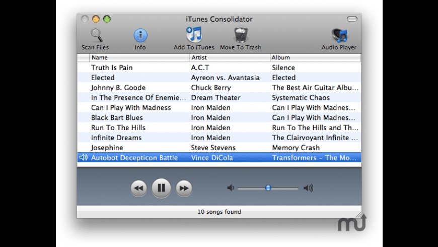 iTunes Consolidator for Mac - review, screenshots