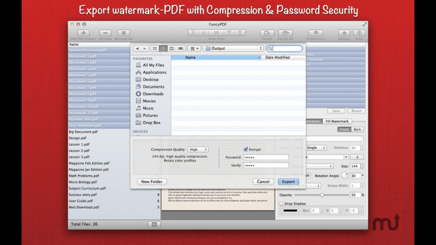 WatermarkPDF for Mac - review, screenshots