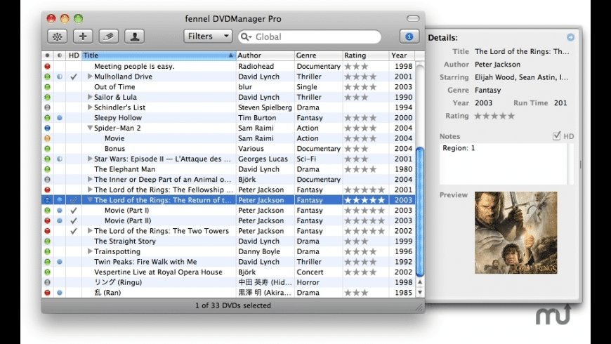 fennel DVDManager Pro for Mac - review, screenshots