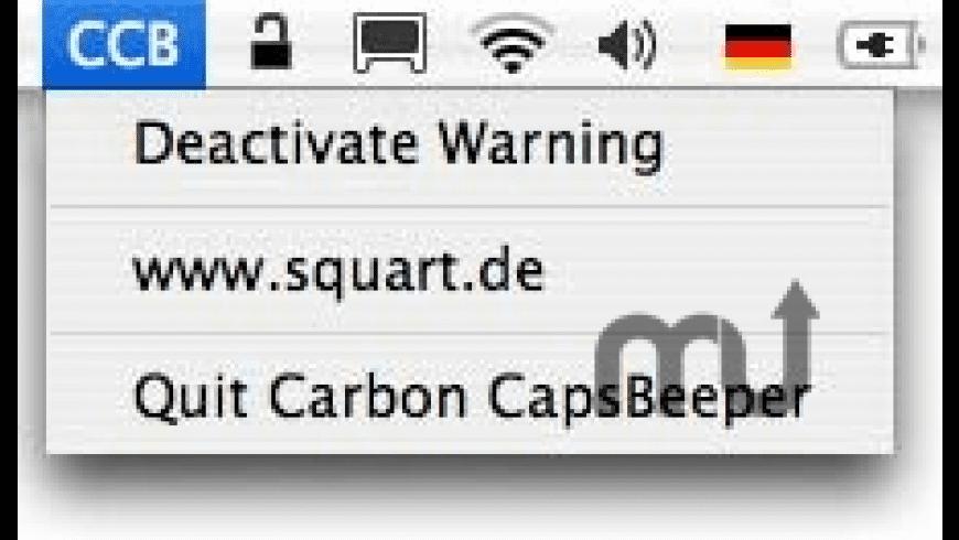 Carbon CapsBeeper for Mac - review, screenshots