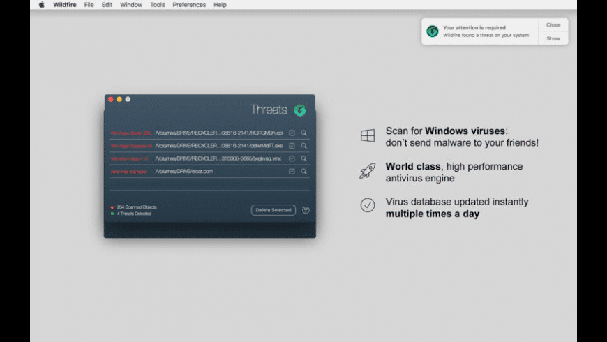 Wildfire Antivirus for Mac - review, screenshots