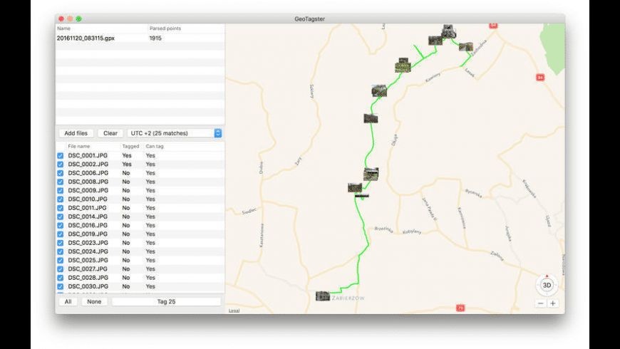 GeoTagster for Mac - review, screenshots