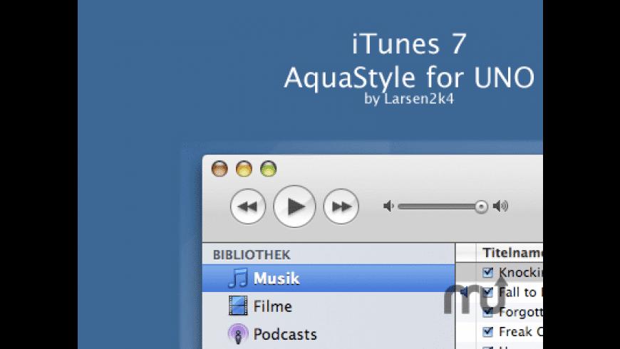 UnoAquaTunes7 for Mac - review, screenshots