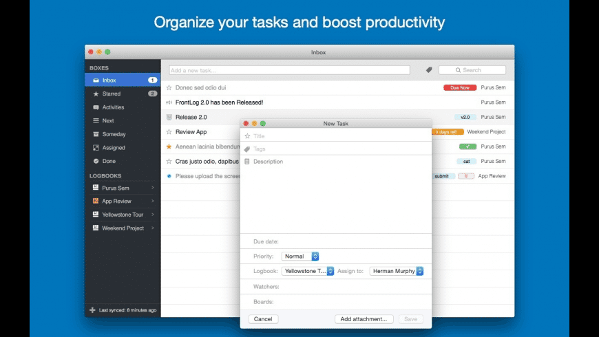 FrontLog for Mac - review, screenshots