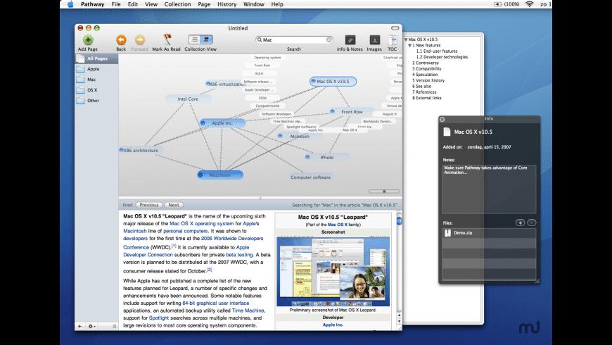 Pathway for Mac - review, screenshots