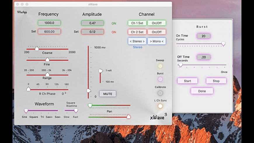 xWave for Mac - review, screenshots