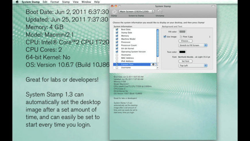 System Stamp for Mac - review, screenshots