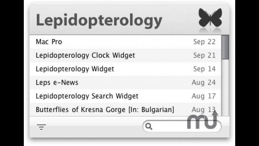 Lepidopterology.com Widget for Mac - review, screenshots