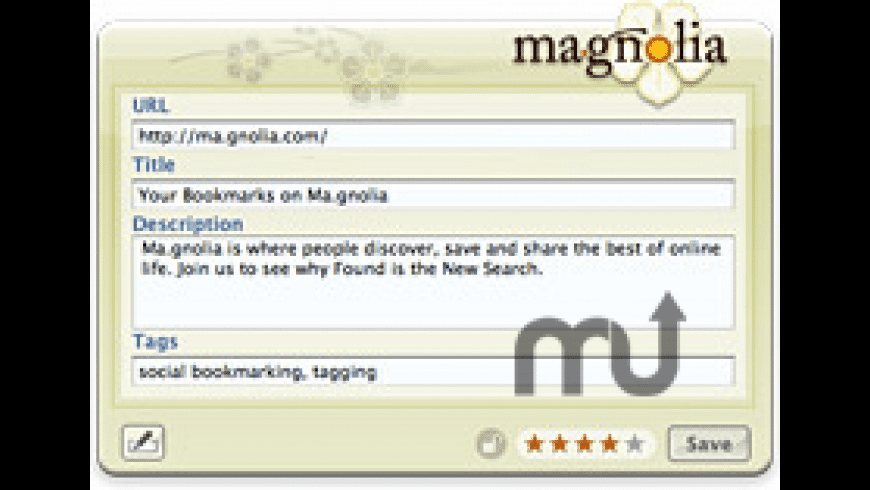 Ma.gnolia Ma.rker for Mac - review, screenshots