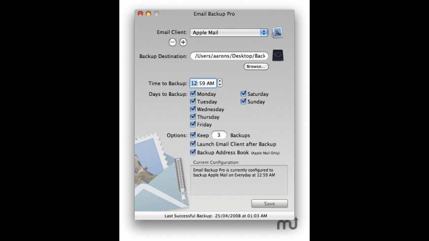 Email Backup Pro for Mac - review, screenshots