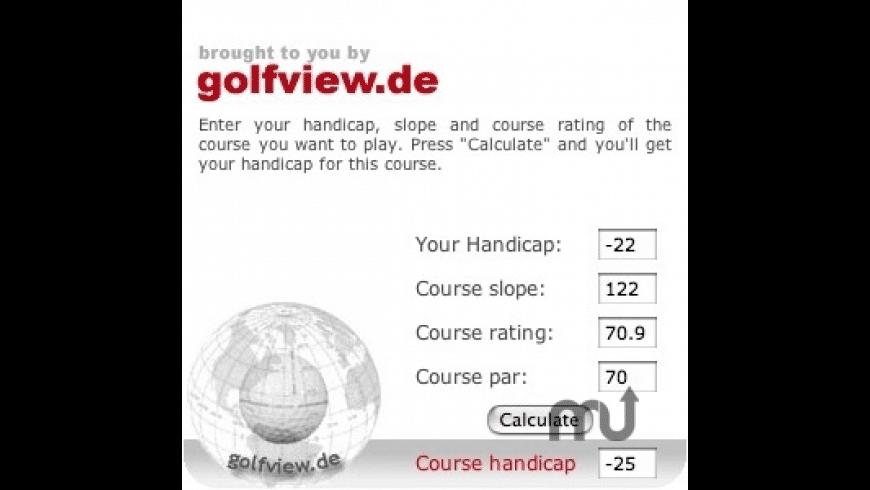Course Handicap for Mac - review, screenshots