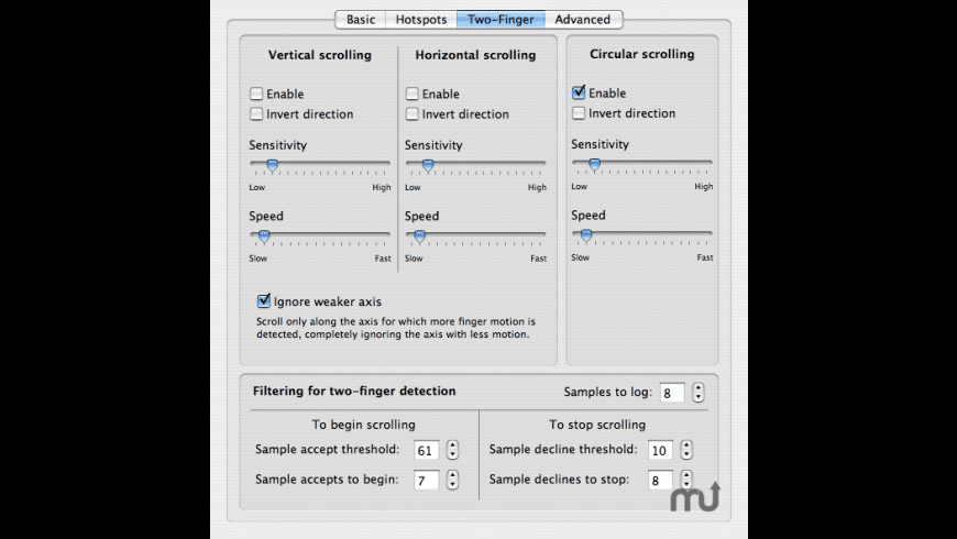 Free Focused Scroll for Mac - review, screenshots