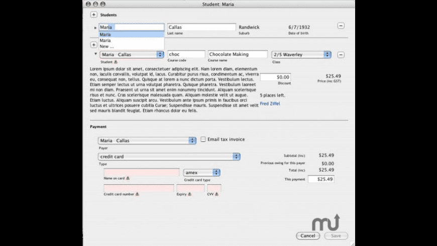 onCourse for Mac - review, screenshots