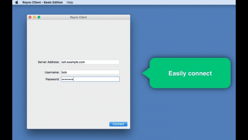 Rsync Client - Basic Edition for Mac - review, screenshots