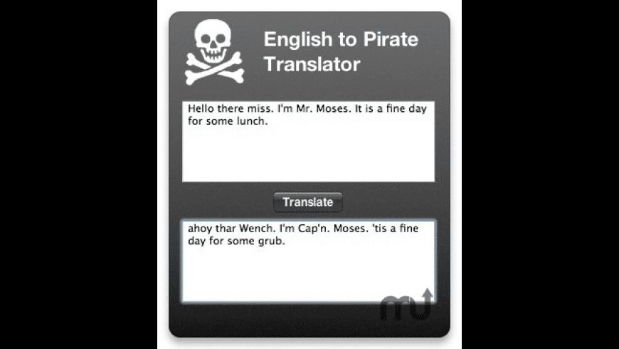 Pirate Translator for Mac - review, screenshots