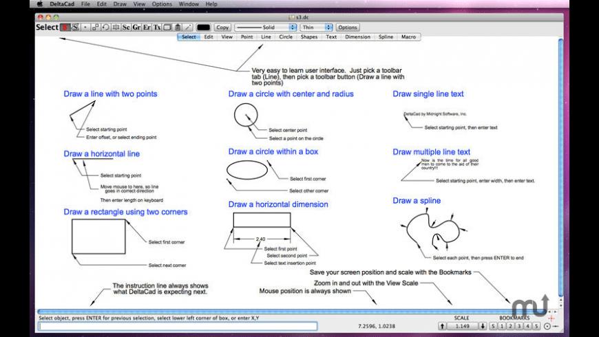 DeltaCad for Mac - review, screenshots