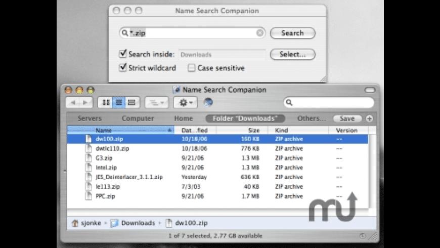 Name Search Companion for Mac - review, screenshots