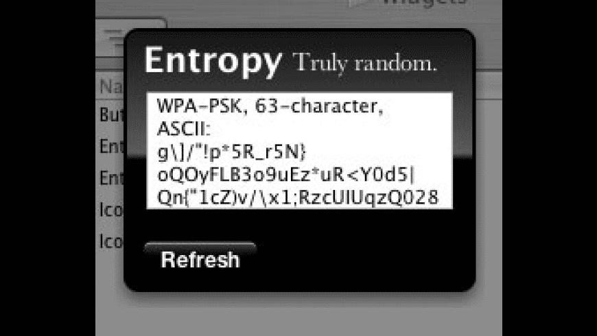 Entropy for Mac - review, screenshots