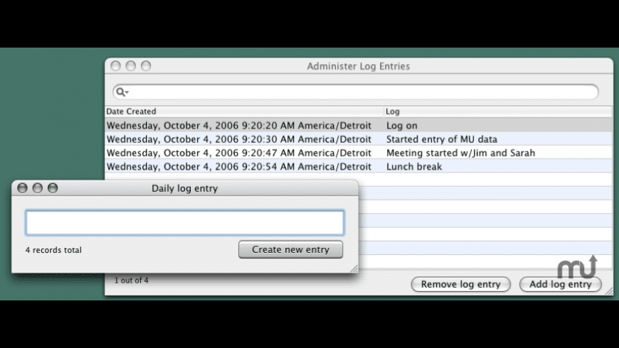 DailyLogger for Mac - review, screenshots