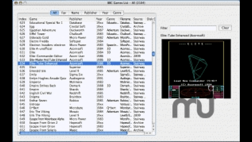 Mac BBC Games List for Mac - review, screenshots
