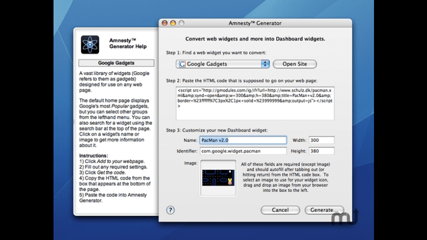 Amnesty Generator for Mac - review, screenshots