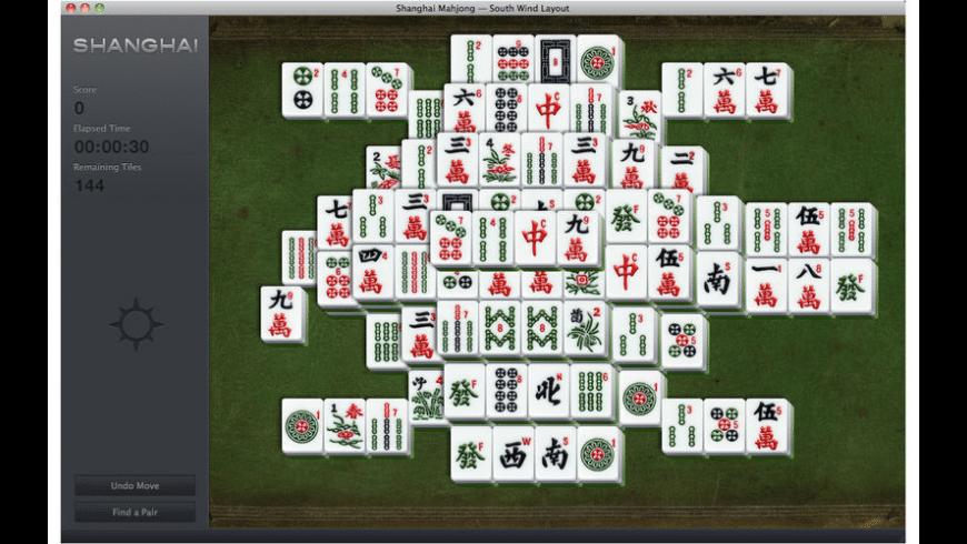 Shanghai Mahjong for Mac - review, screenshots