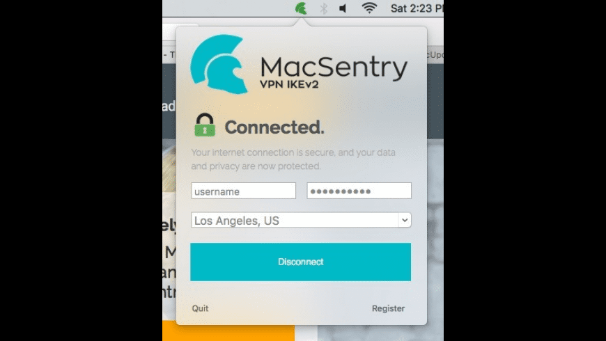 MacSentry VPN IKEv2 for Mac - review, screenshots