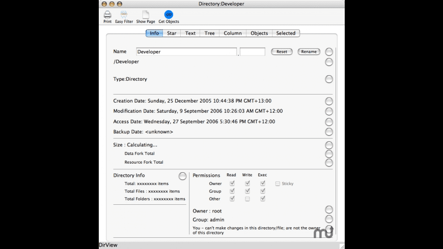 Directory Tree for Mac - review, screenshots