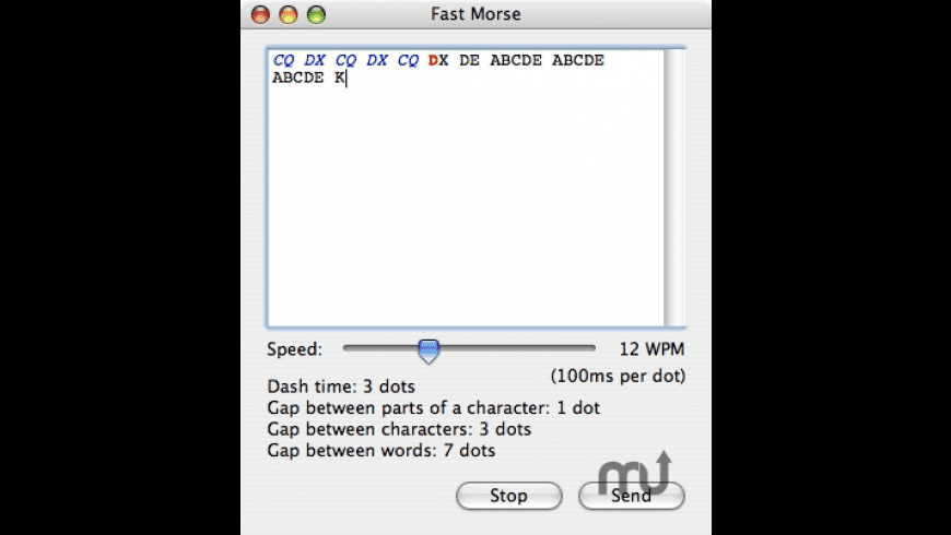 Fast Morse for Mac - review, screenshots