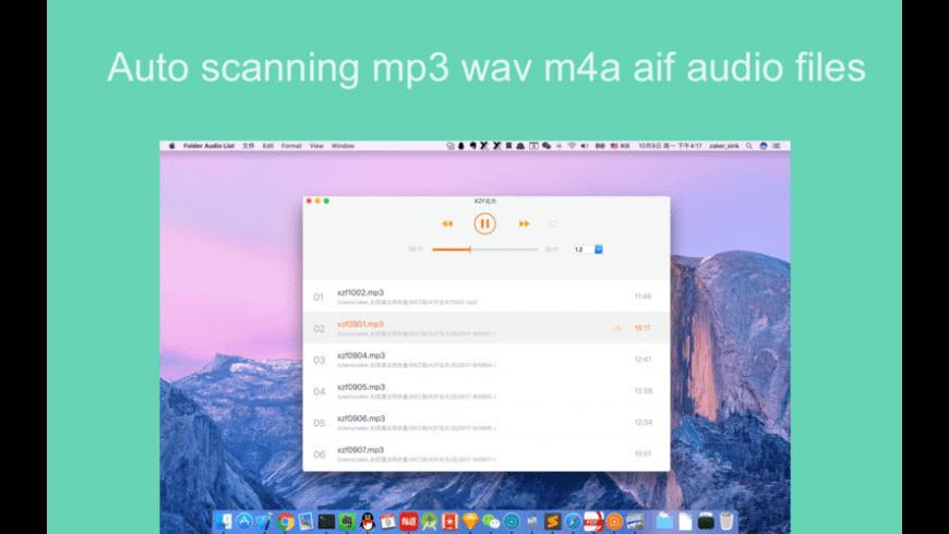 Folder Audio List for Mac - review, screenshots