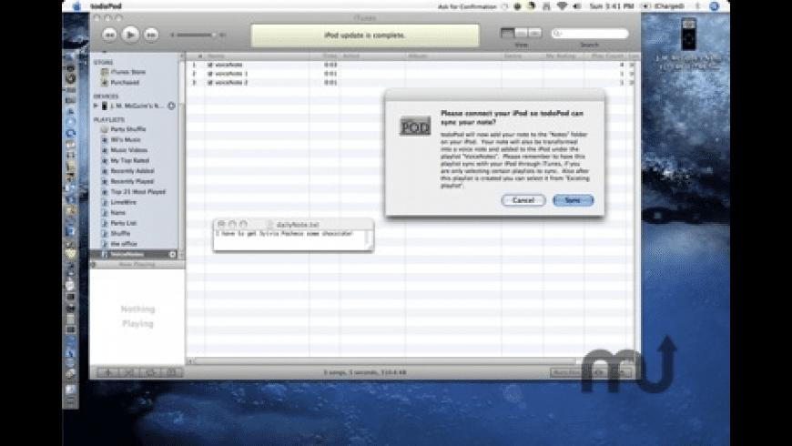todoPod for Mac - review, screenshots
