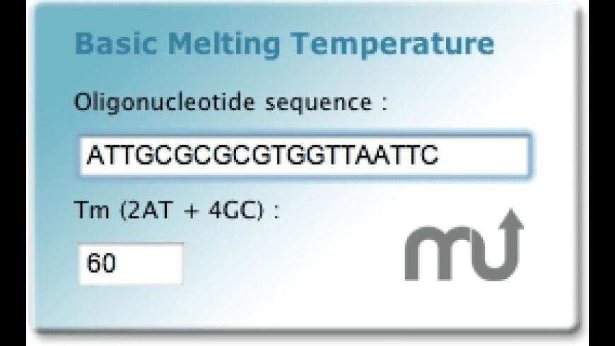 Basic melting temperature widget for Mac - review, screenshots