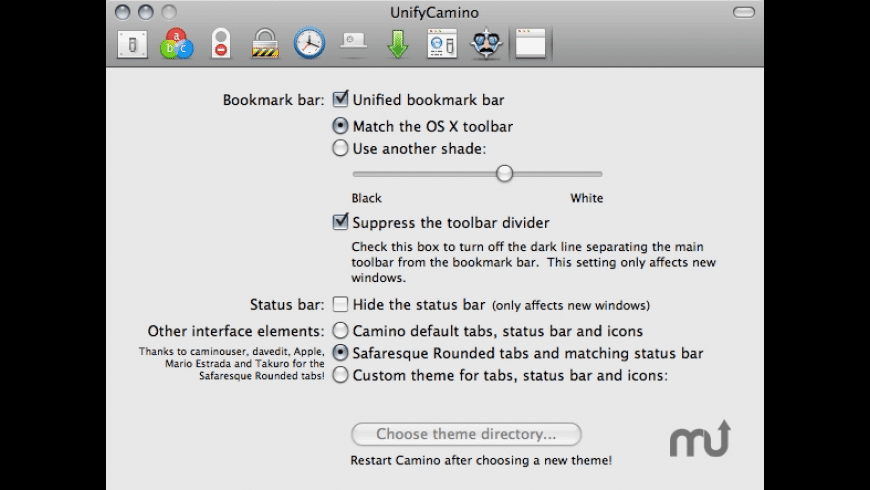 UnifyCamino for Mac - review, screenshots