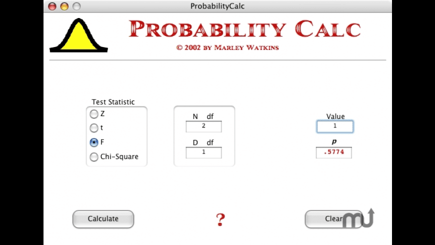ProbabilityCalc for Mac - review, screenshots