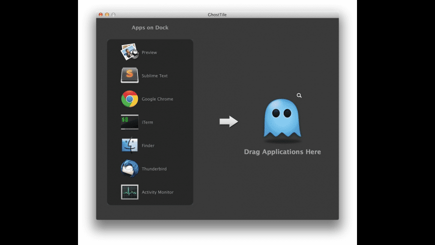 GhostTile for Mac - review, screenshots