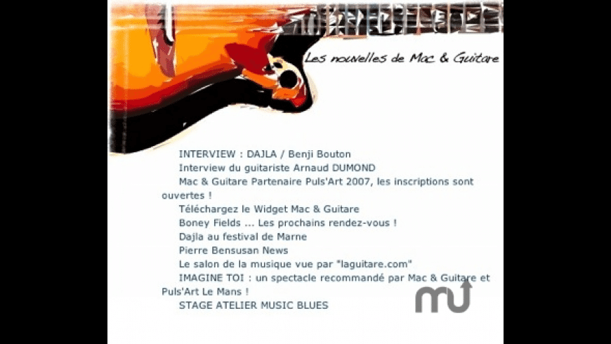 Widget Mac & Guitare for Mac - review, screenshots