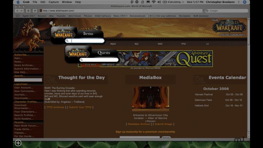WoWidgets4Free for Mac - review, screenshots