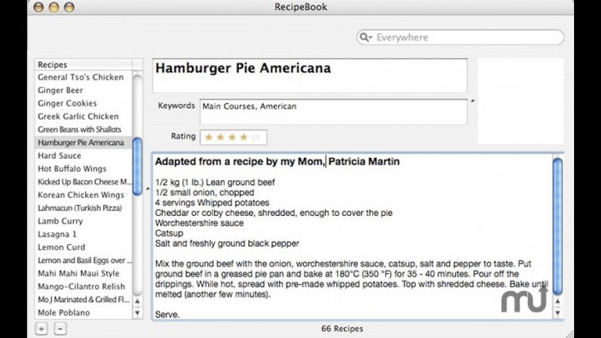 RecipeBook for Mac - review, screenshots