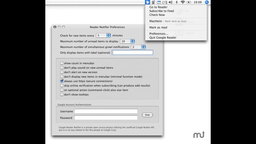 Reader Notifier Reloaded for Mac - review, screenshots